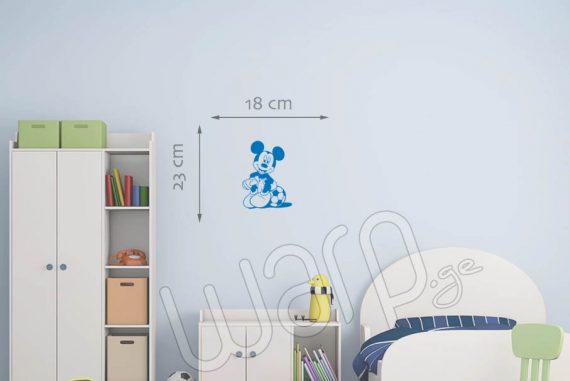 მიკი მაუსი დისნეის მულტფილმის პერსონაჟის კედლის სტიკერი - 23x18 - ცისფერი - warp.ge
