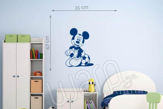 მიკი მაუსი დისნეის მულტფილმის პერსონაჟის კედლის სტიკერი - 47x35 - ლურჯი - warp.ge