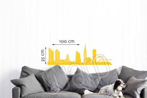 Batumi Skyscrapers Wall Decal - Kviteli - 100x35 - Warp.ge