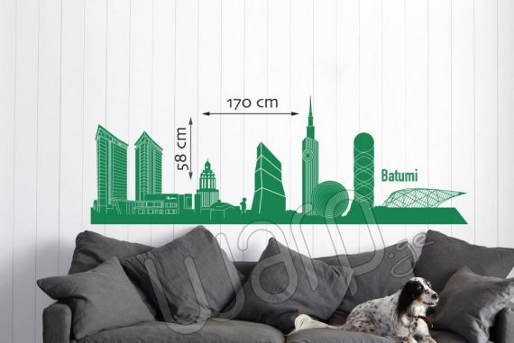 Batumi Skyscrapers Wall Decal - Mcvane - 170x58 - Warp.ge