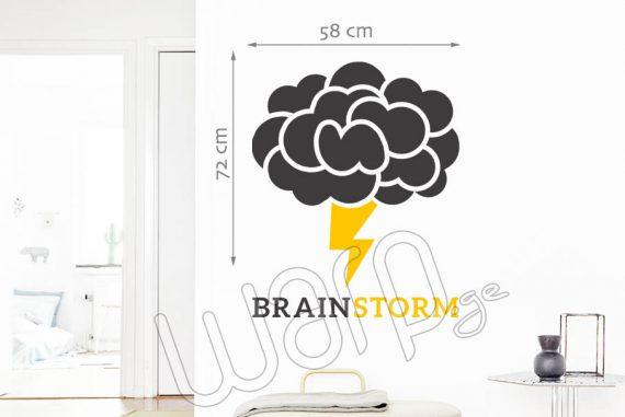 Brain Storm Wall Decal - Yellow - 72x58 - Warp.ge