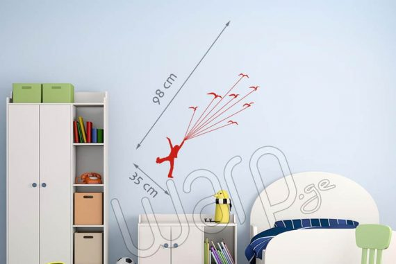 Fly with Birds Wall Decal For Kids - Citeli - 98x35 - Warp.ge