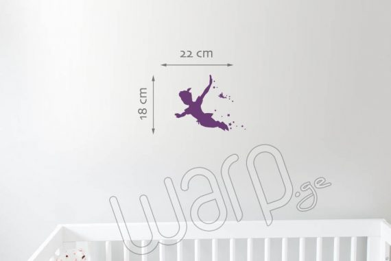 Peter Pan Kedlis Sticker Bavshvebistvis - Iasamnisferi - 22x18 - Warp.ge