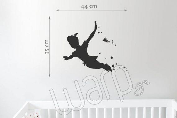 Peter Pan Kedlis Sticker Bavshvebistvis - Shavi - 44x35 - Warp.ge