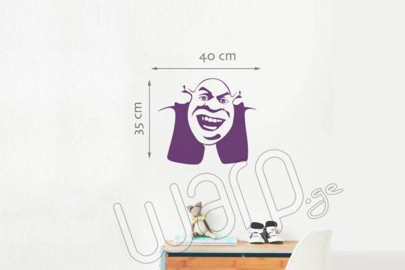 Shrek Kedlis Sticker - Iasamnisferi - 40x35 - Warp.ge