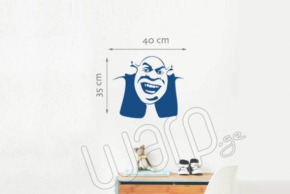 Shrek Kedlis Sticker - Lurji - 40x35 - Warp.ge