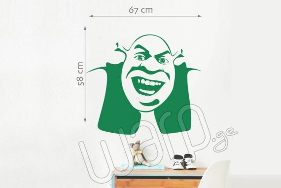 Shrek Kedlis Sticker - Mcvane - 67x58 - Warp.ge