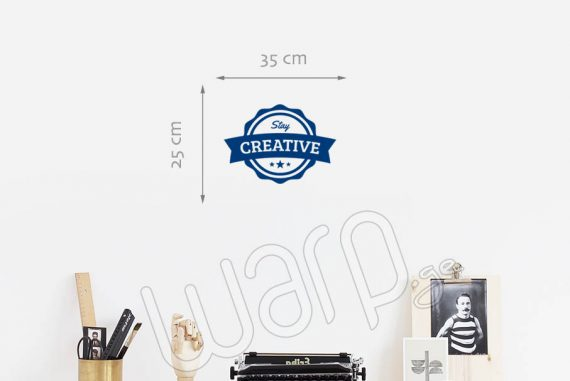 Stay Creative Wall Decal - 35x25 - Blue - Warp.ge