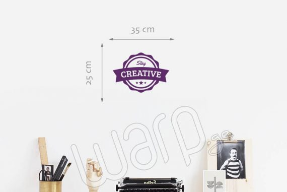Stay Creative Wall Decal - 35x25 - Violet - Warp.ge
