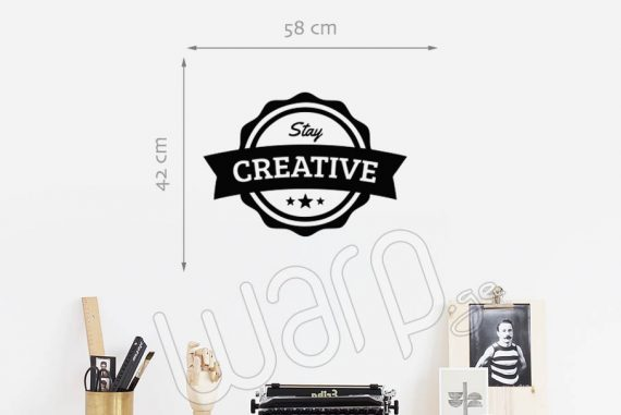 Stay Creative Wall Decal - 58x42 - Black - Warp.ge
