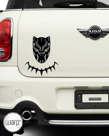 მანქანის სტიკერი შავი პანტერა - warp.ge