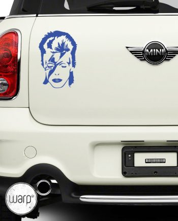 David Bowie Car sticker - warp.ge