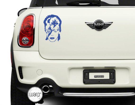 David Bowie Car sticker - warp.ge