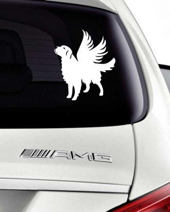 ძაღლი ანგელოზი მანქანის სტიკერი