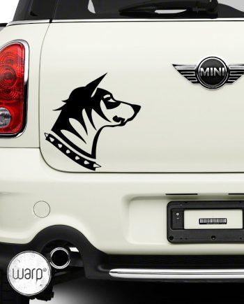 მანქანის სტიკერი ძაღლი