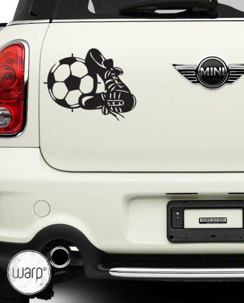 ფეხბურთი მანქანის სტიკერი - warp.ge