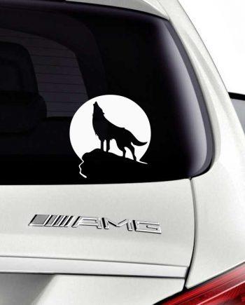 მანქანის სტიკერი მგელი