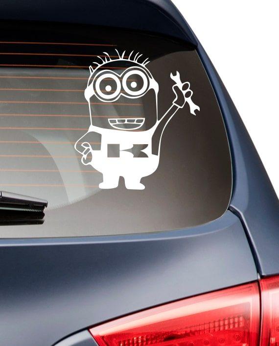 მინიონი მანქანის სტიკერი - warp.ge