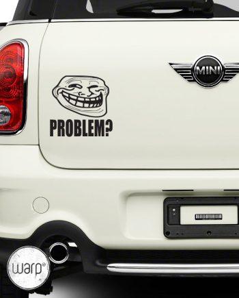 მანქანის სტიკერი Troll face